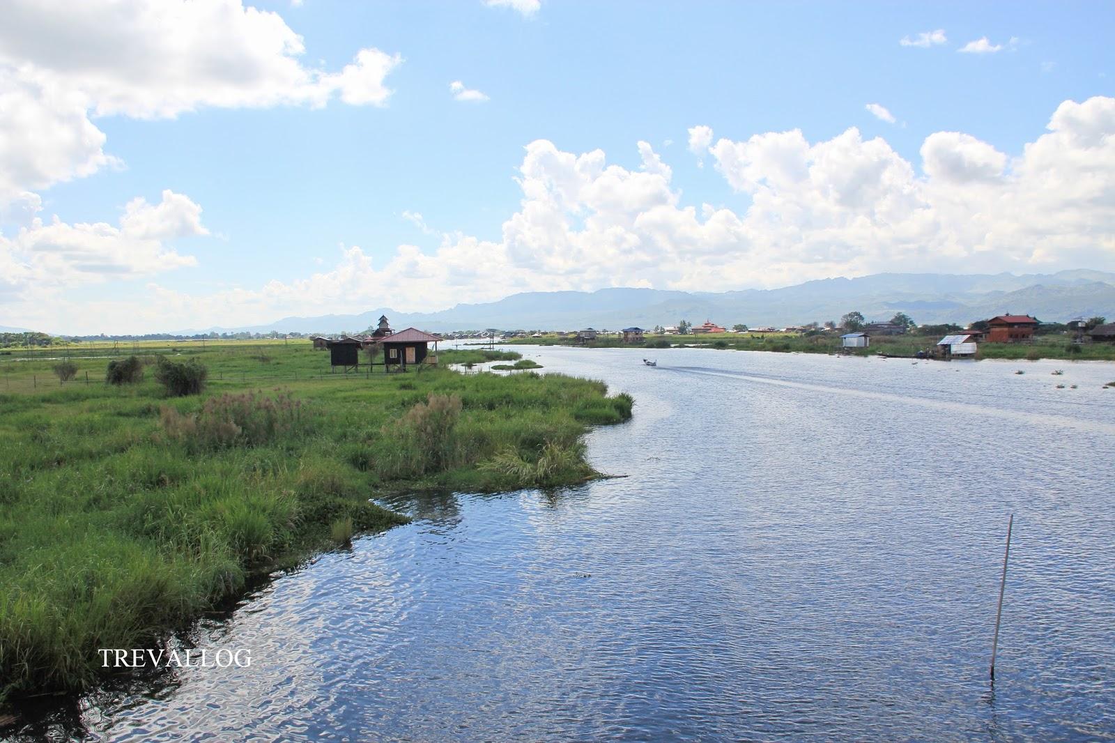 View from Nice restaurant, Inle Lake, Myanmar