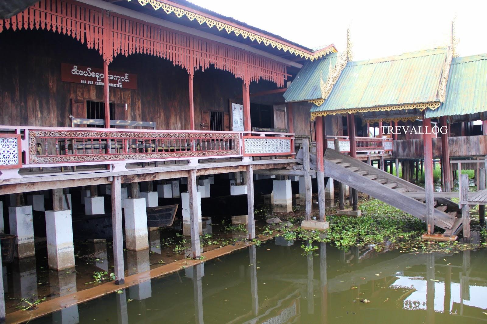Monastery in Inle Lake, Myanmar