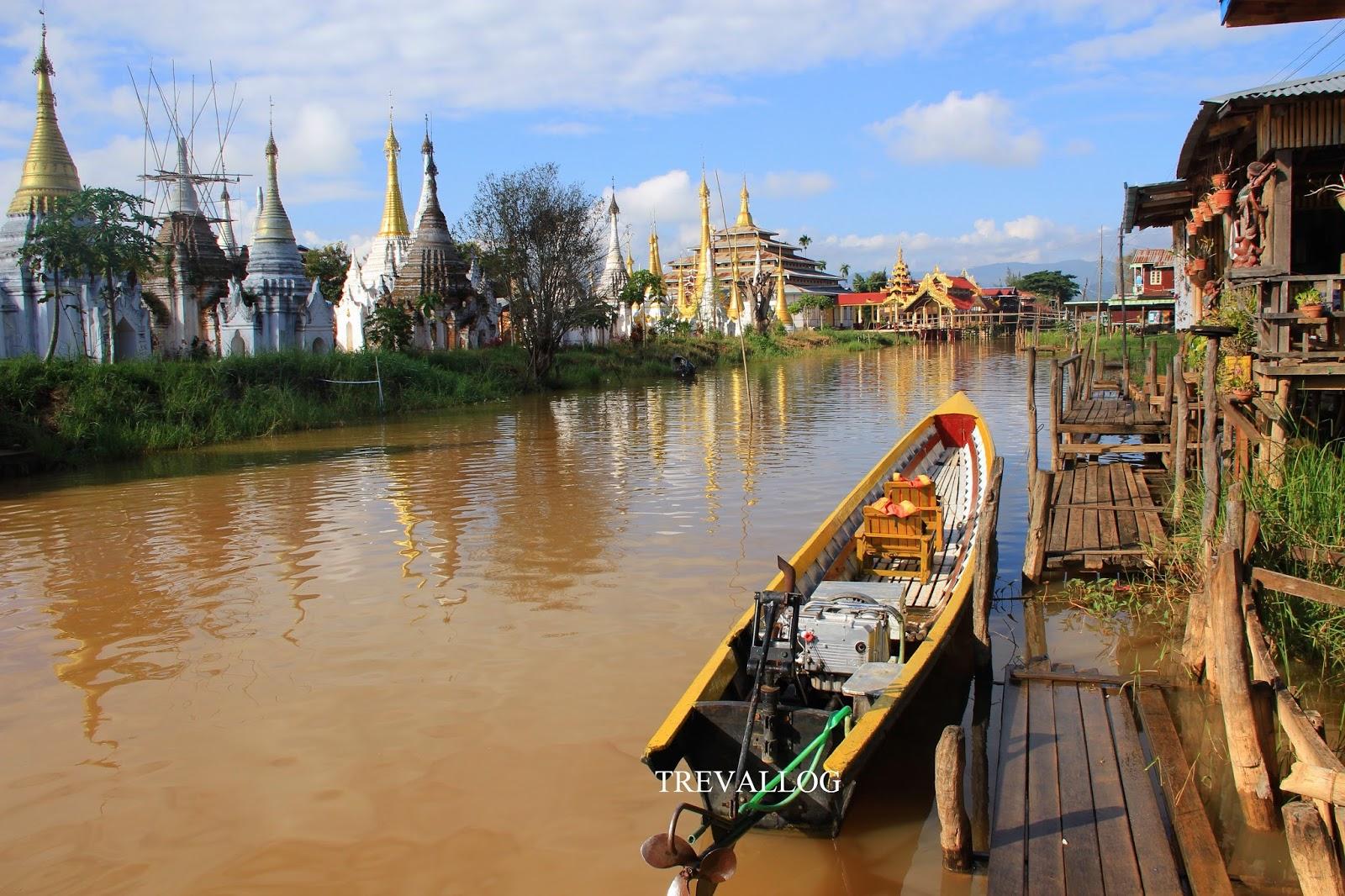 Pagoda in Inle lake, Myanmar