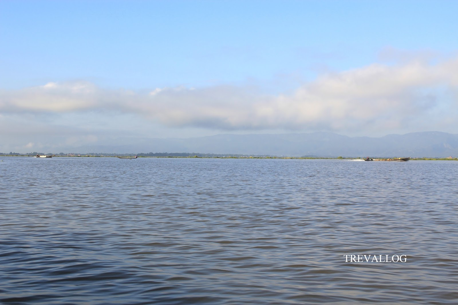 Sky, mountain and sea in Inle Lake, Myanmar
