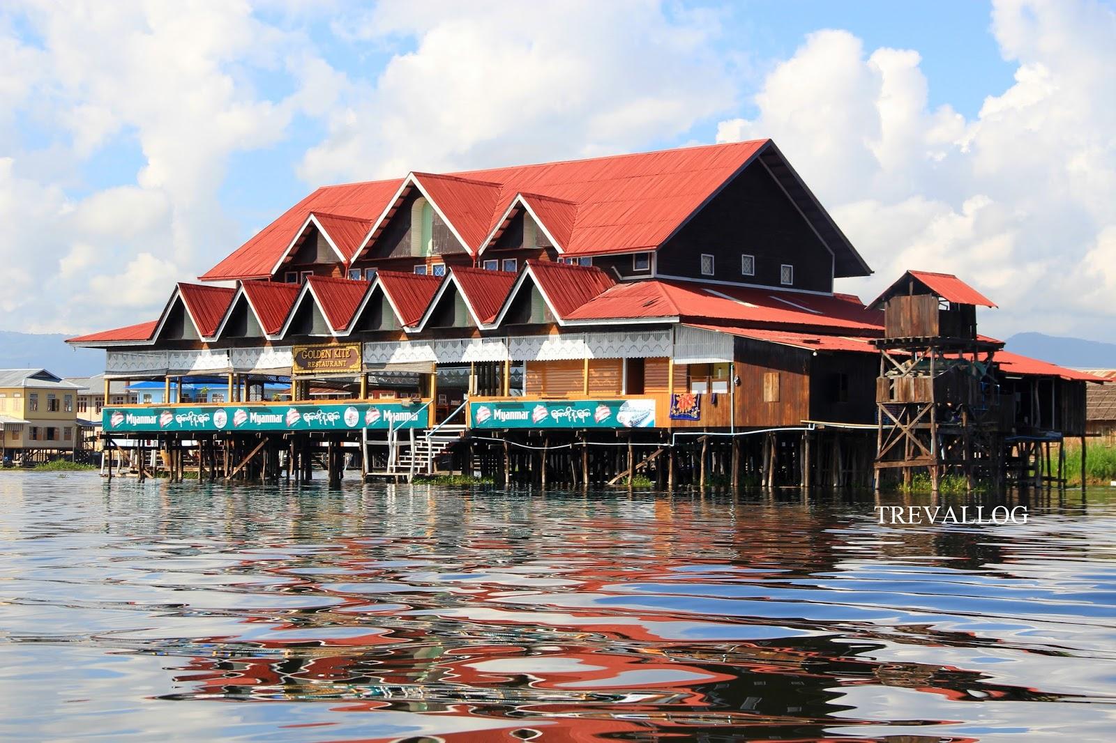 Restaurant in Inle Lake, Myanmar