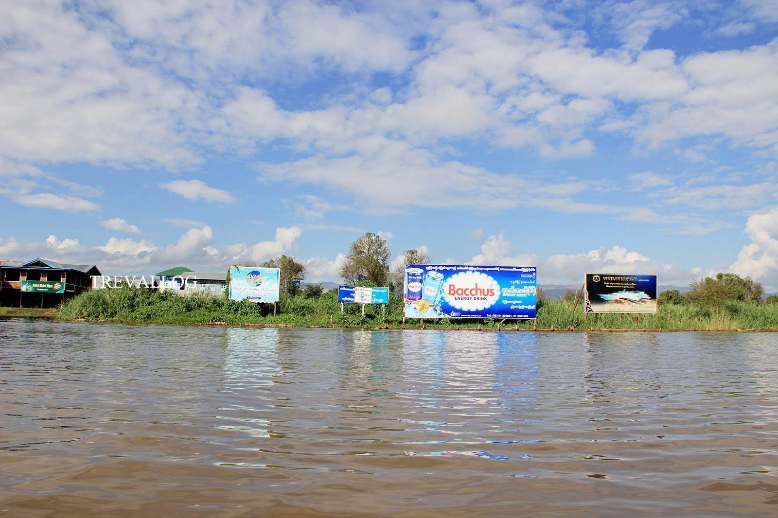 Advertisement spot in Inle lake, Myanmar