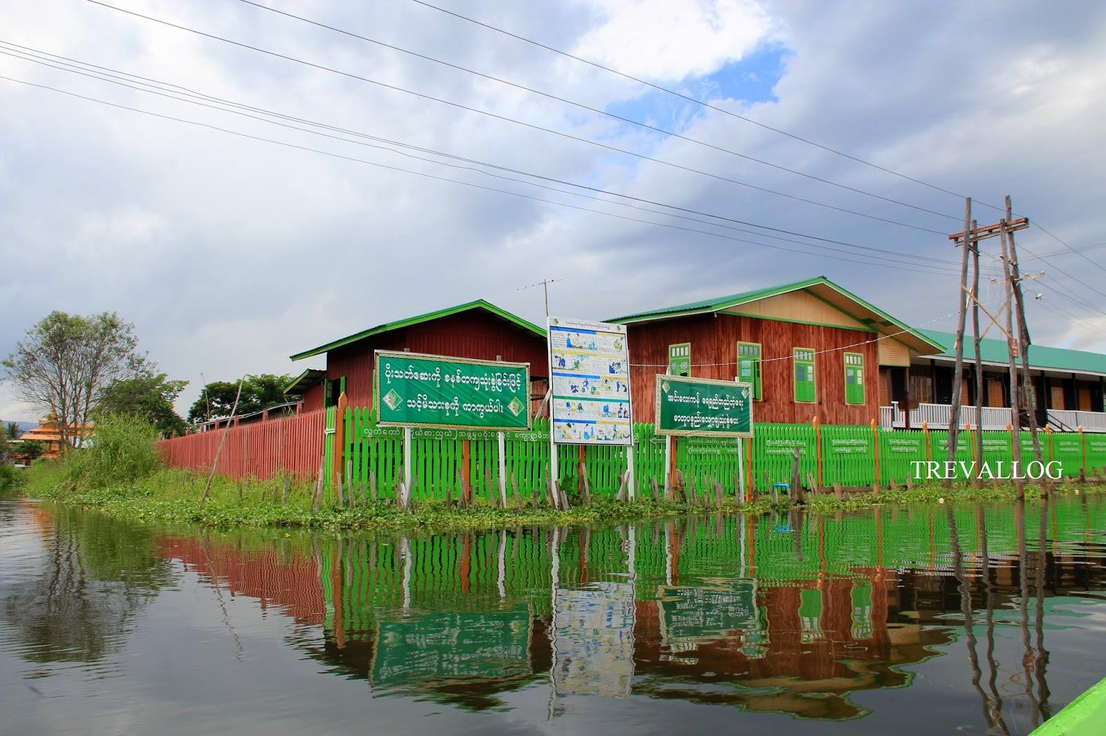 Beautiful school in Inle Lake, Myanmar.