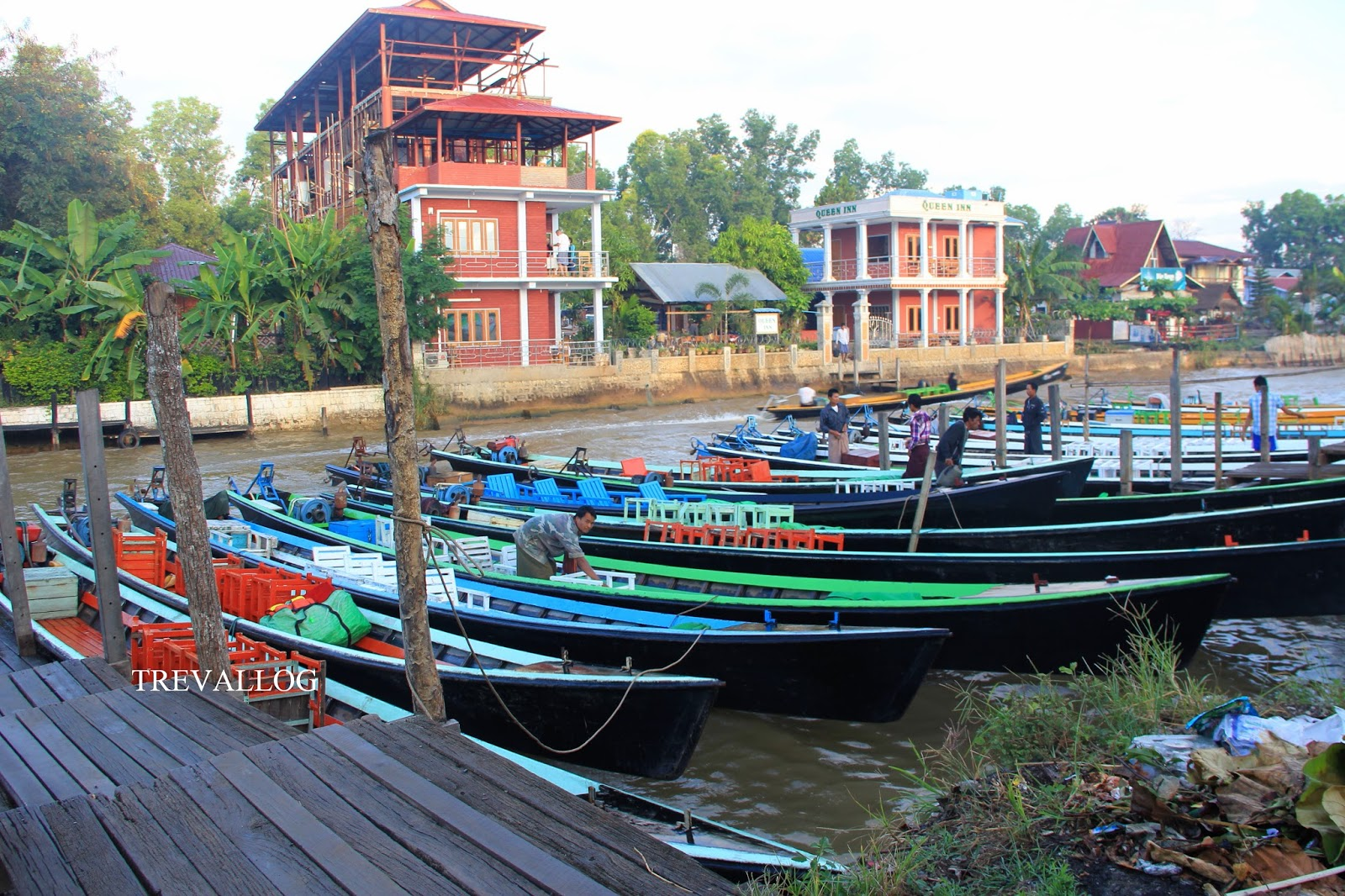 The jetty at Nyaung Shwe, Inle, Myanmar