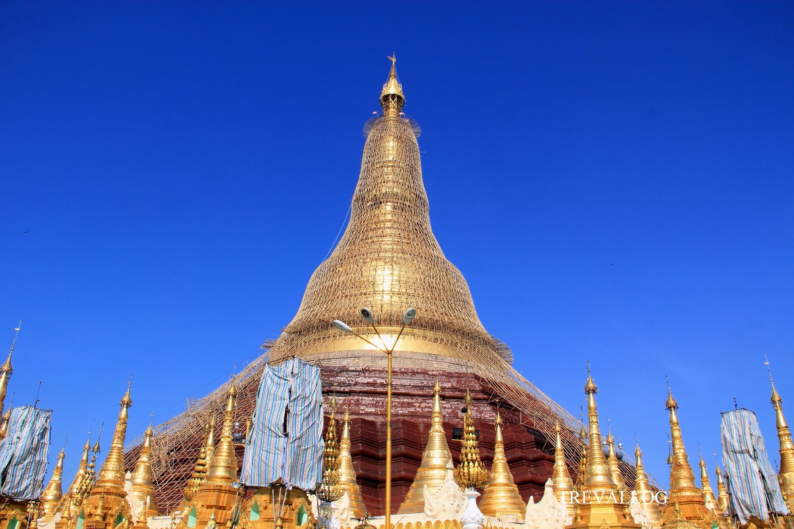 Shwedagon Pagoda under restoration