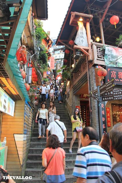 Steps at Jiufen Old Street, Taiwan