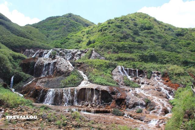 Gold Waterfall at Jiufen, Taiwan