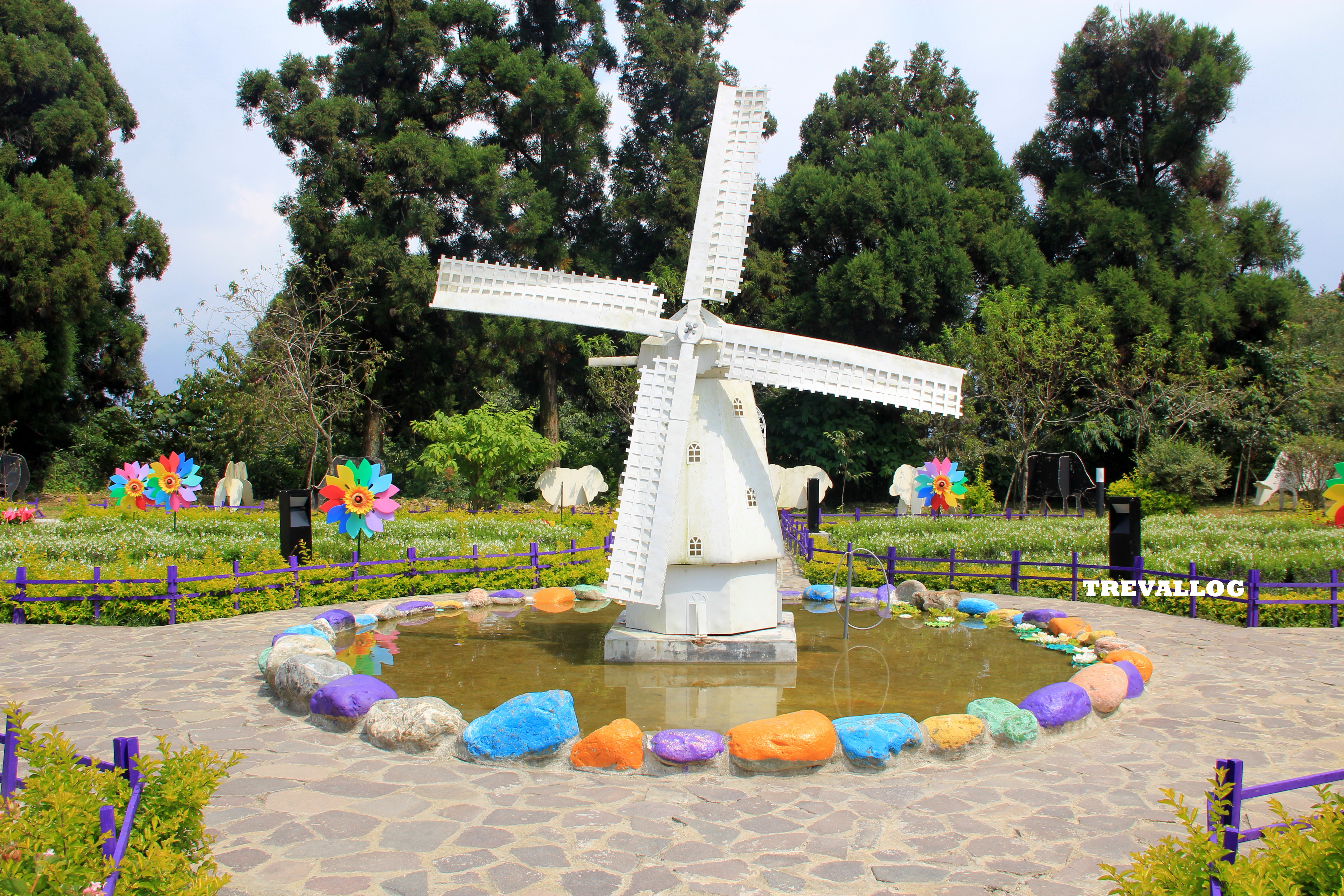 Little Windmill At Little Swiss Garden, Cingjing, Taiwan