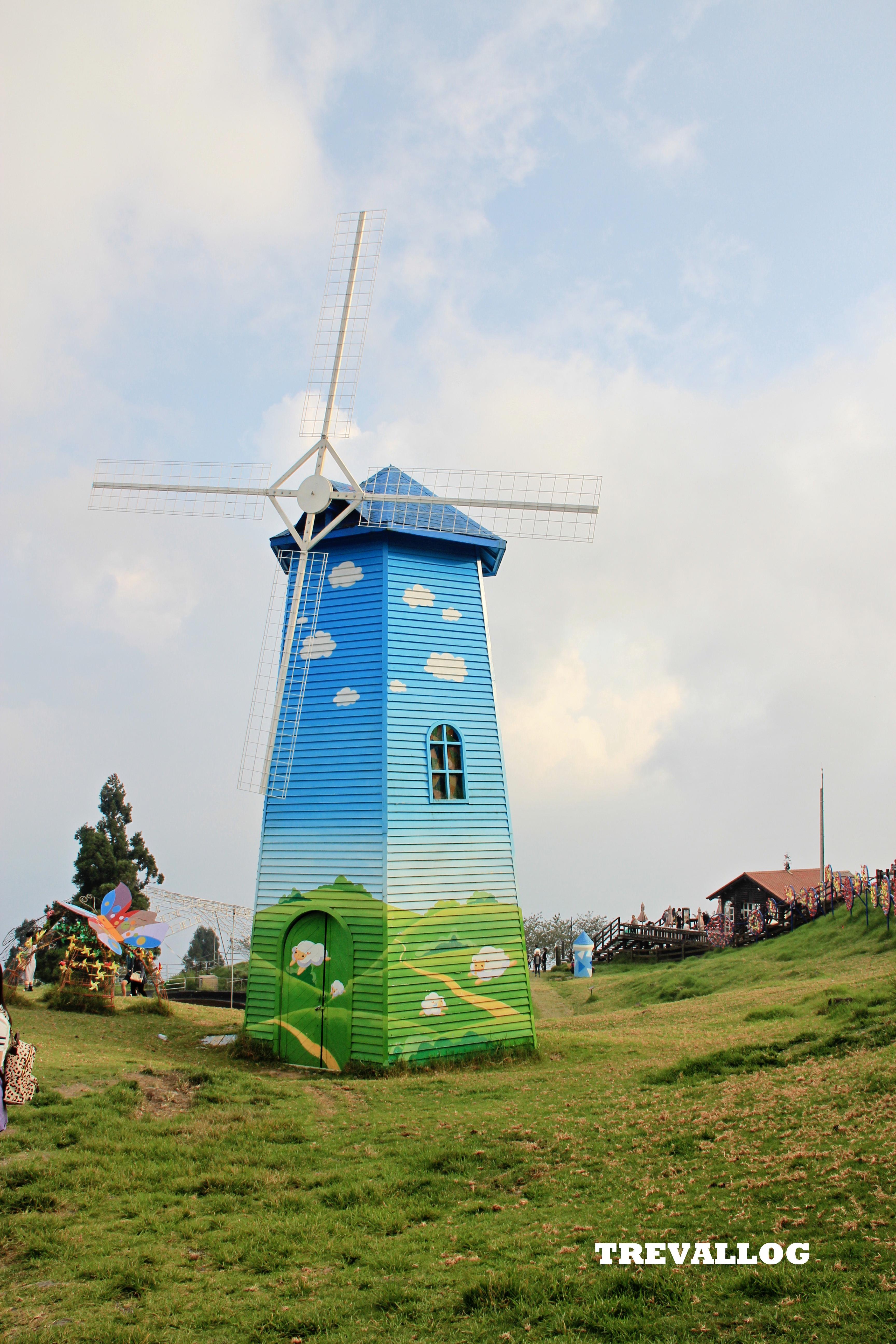 Windmill at Cingjing Farm, Taiwan