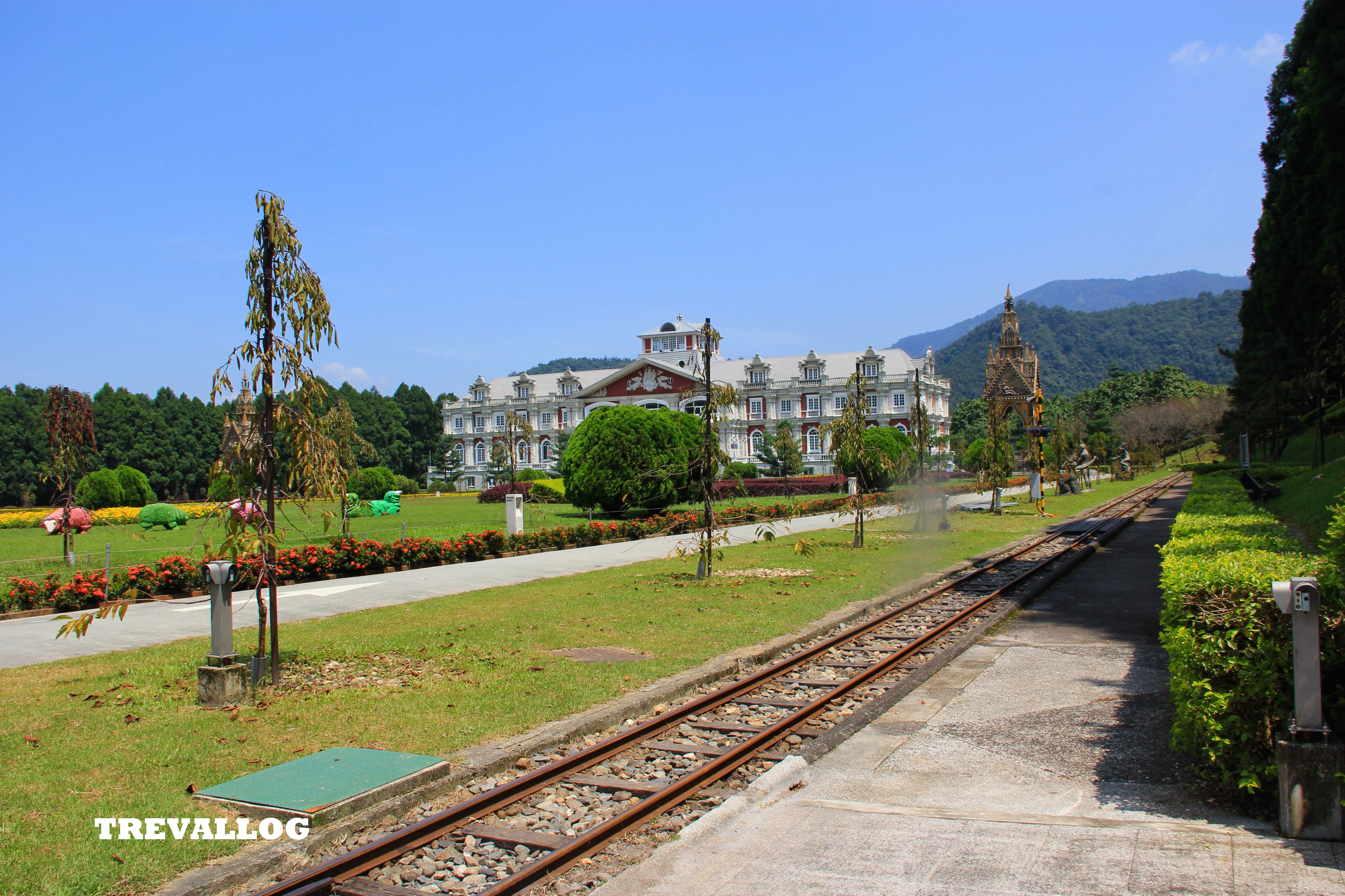 European Palace Garden at Formosan Aboriginal Culture Village, Ita Thao, Sun Moon Lake, Taiwan