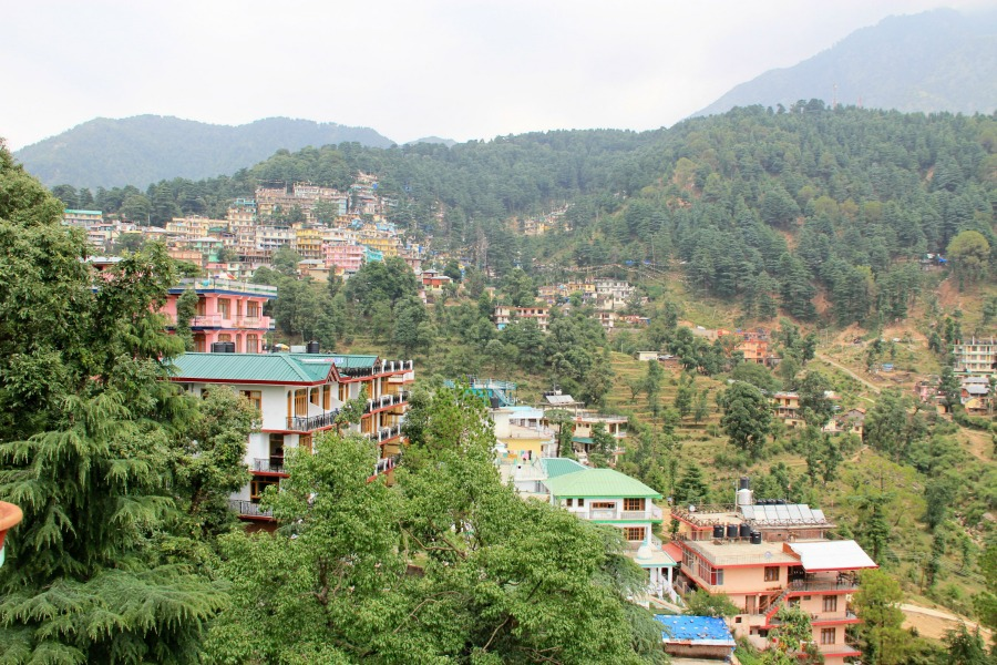 Rooftop view at McLeod Ganj, Dharamsala, India