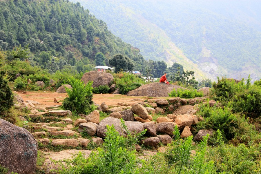 view in dharamkot, on the way to bhagsu waterfall