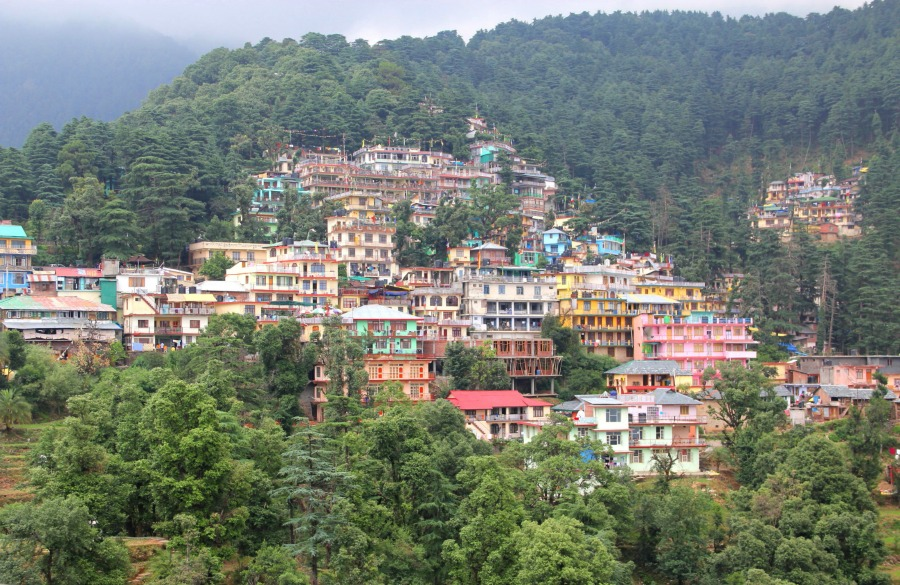 Colorful houses at McLeod Ganj, Dharamsala, India