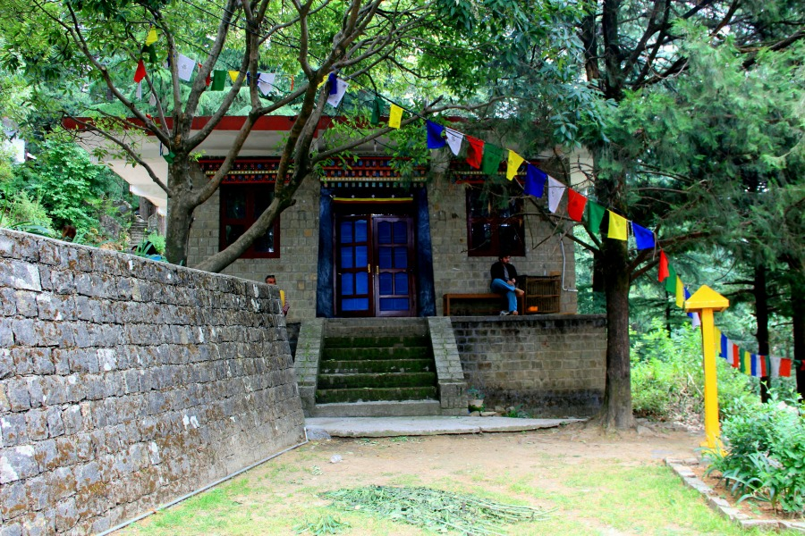 Meditation hall at Tushita Meditation Centre, McLeod Ganj, Dharamsala, India
