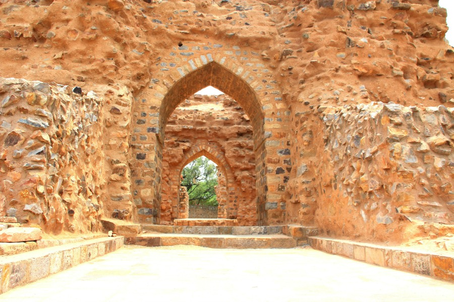 Ruins at Qutub Minar in New Delhi, India