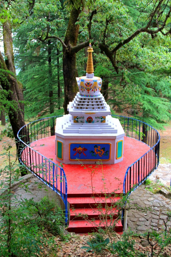Stupa at Tushita Meditation Centre, McLeod Ganj, Dharamsala, India