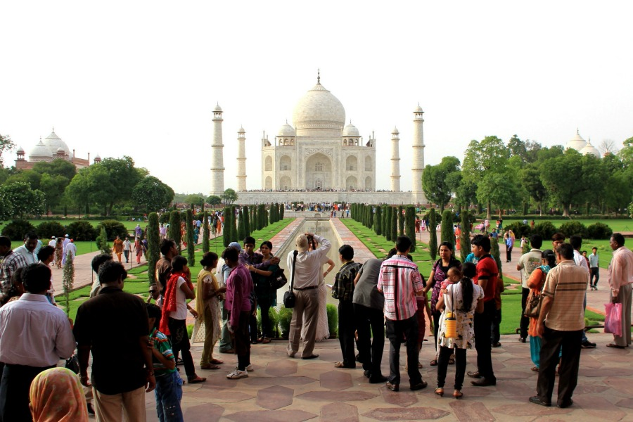Crowd at Taj Mahal, Agra, India