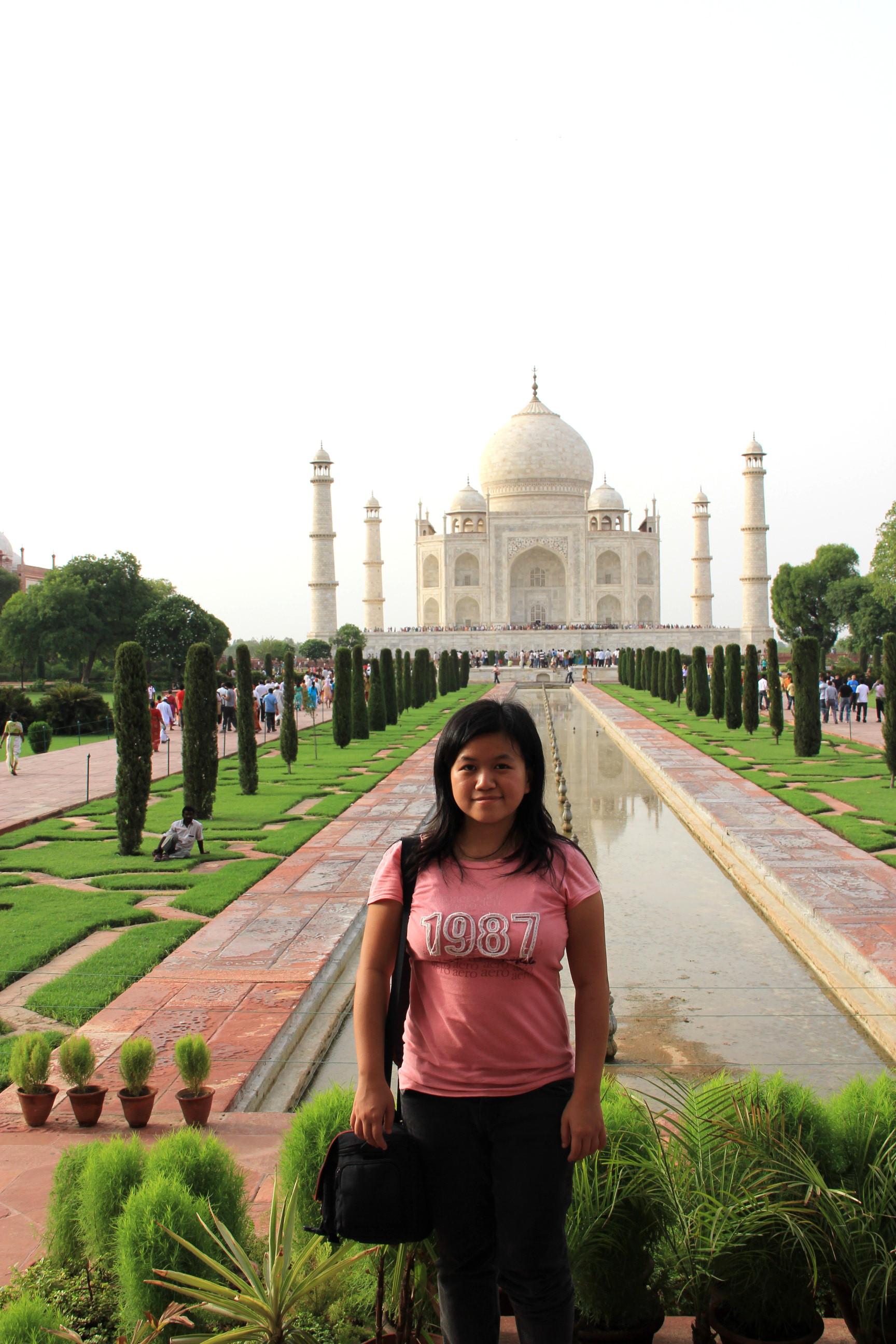Me at Taj Mahal, Agra, India