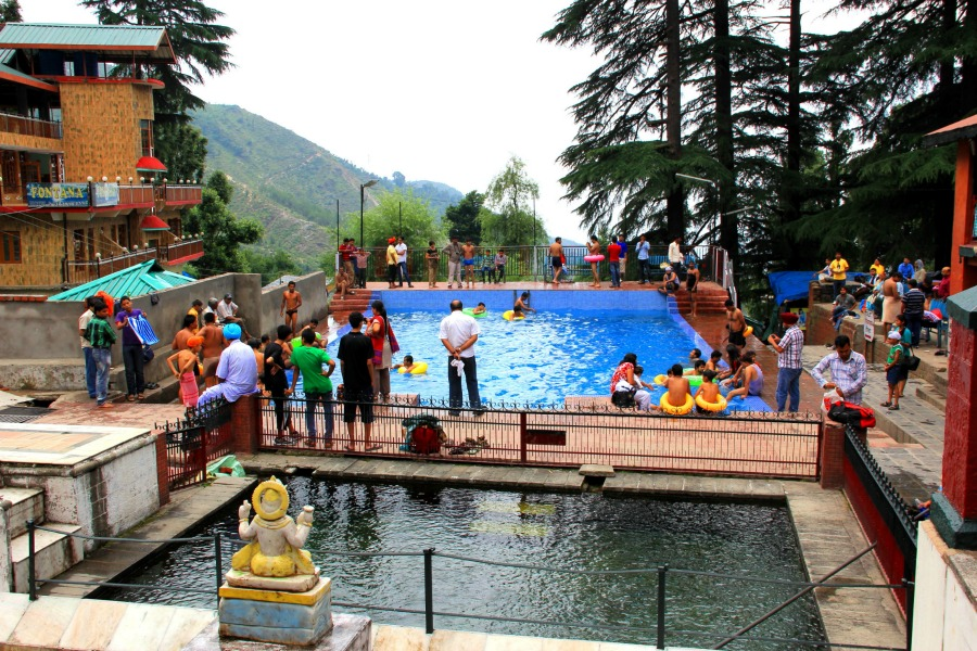 Public pool in Dharamkot, McLeod Ganj, Dharamsala, India