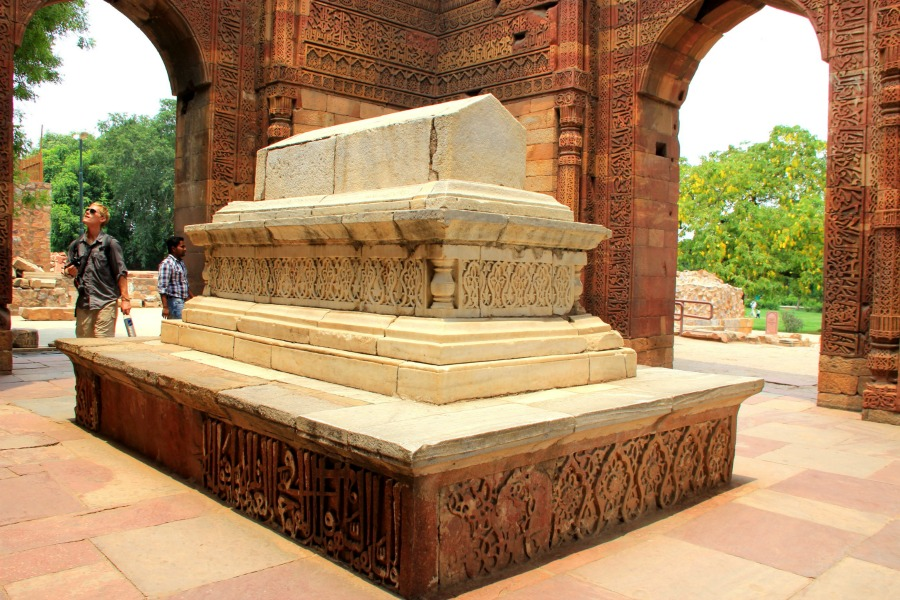 Tomb of Altamash at Qutub Minar in New Delhi, India