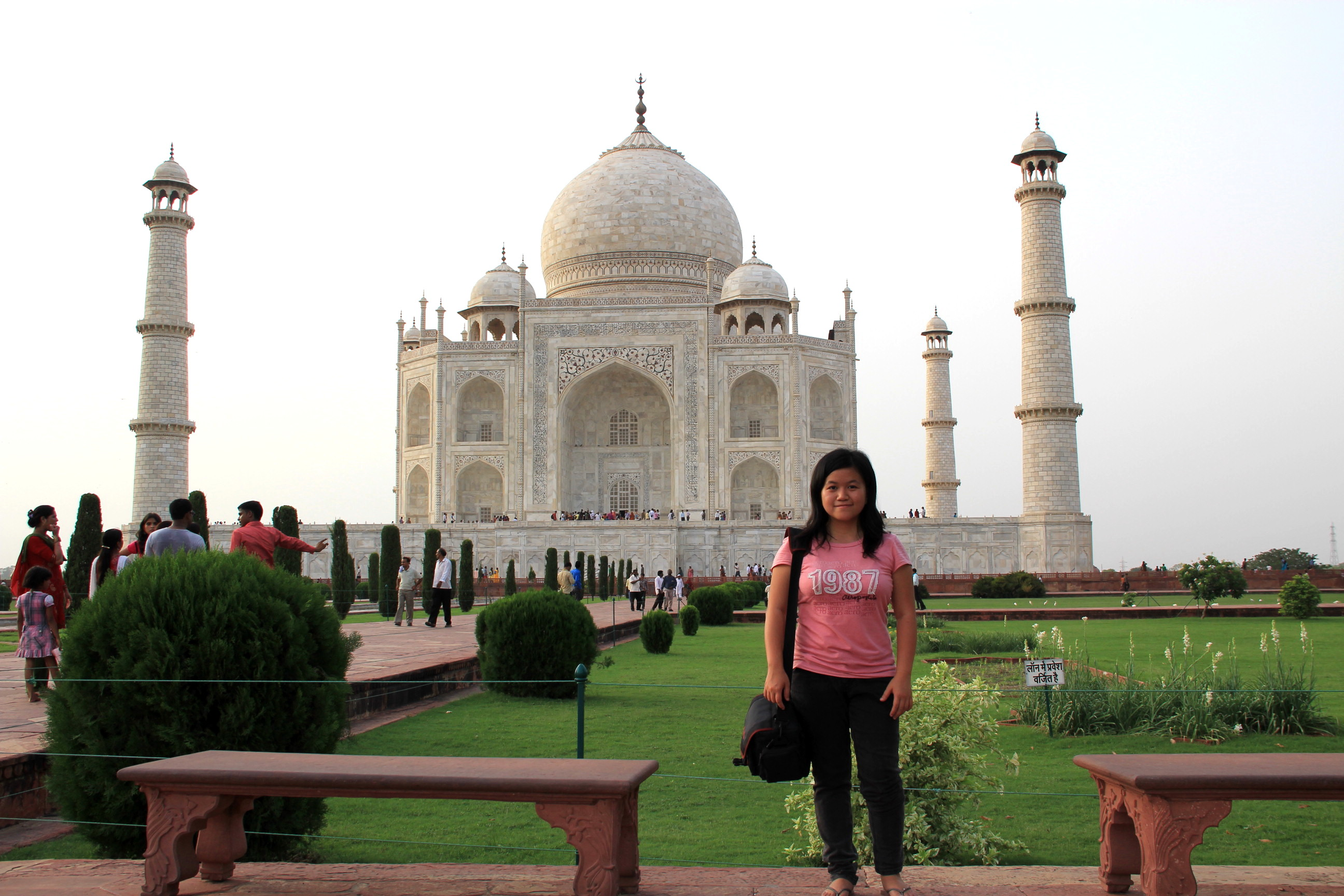 Me at Taj Mahal, Agra, India
