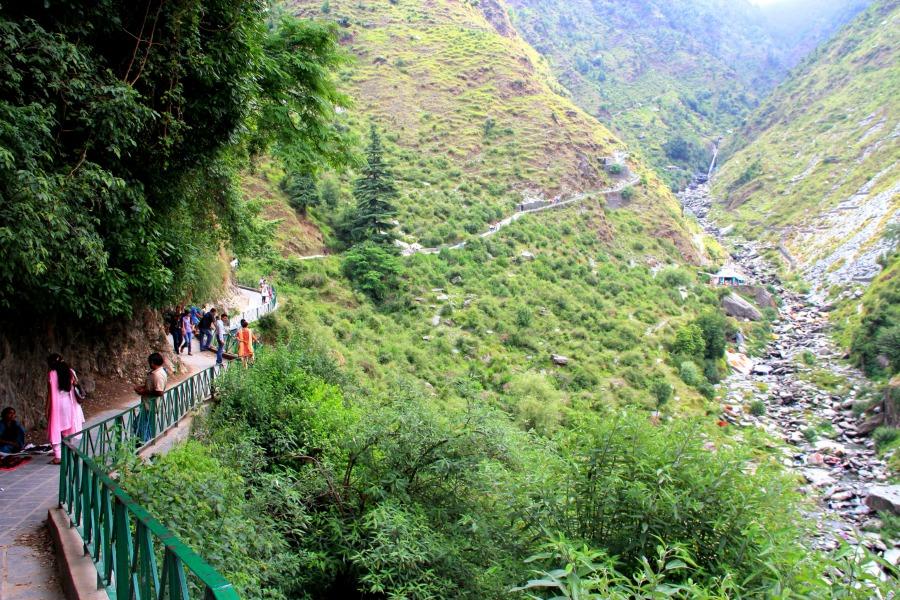 Bhagsu Waterfall in Dharamkot, McLeod Ganj, Dharamsala, India