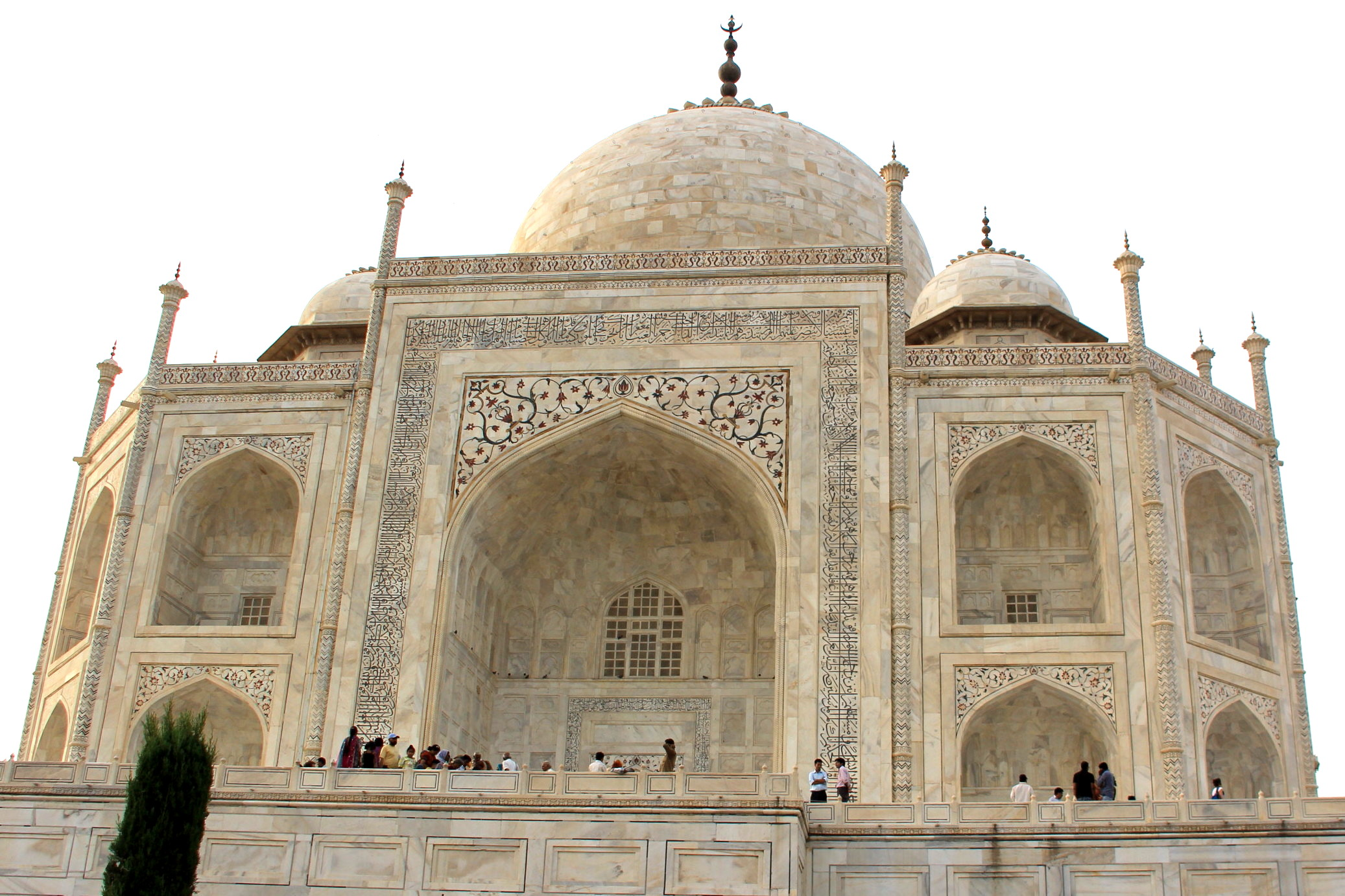 Close up view of Taj Mahal, Agra, India