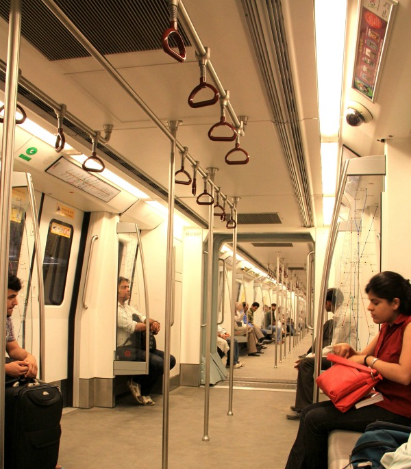 Interior of New Delhi Metro Train