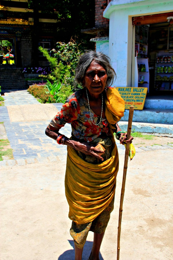 Poor lady in Dharamsala, India