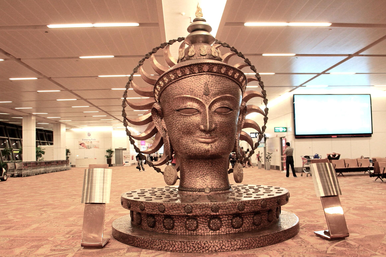 Buddha Statue in New Delhi Airport (Indira Gandhi Airport)