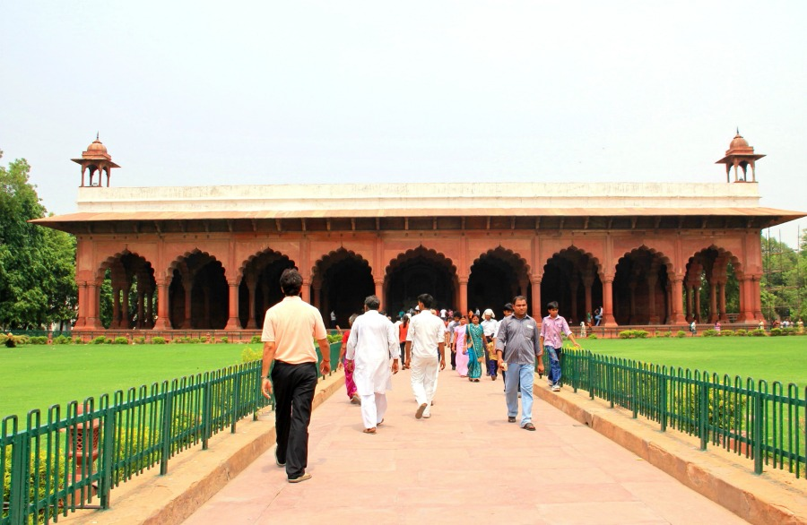 Inside Red Fort in New Delhi, India