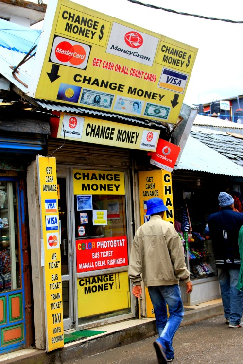 Money changer at McLeod Ganj, Dharamsala, India