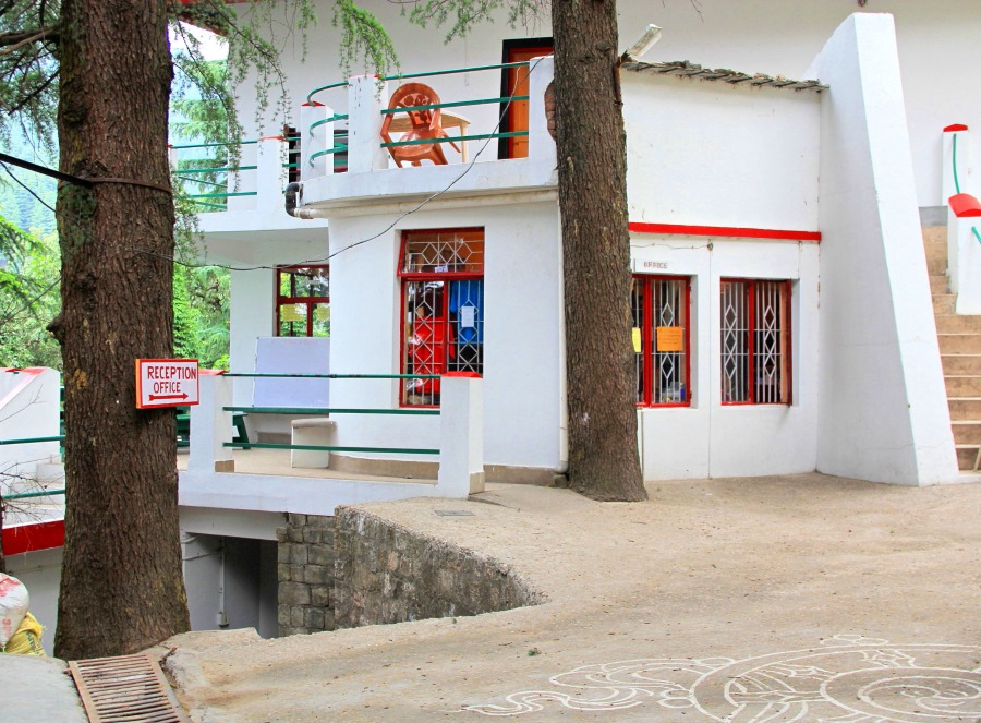 Reception Office of Tushita Meditation Centre, McLeod Ganj, Dharamsala, India