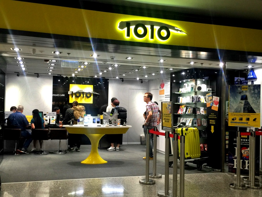 The 1010 shop to buy Hong Kong Tourist Sim Card