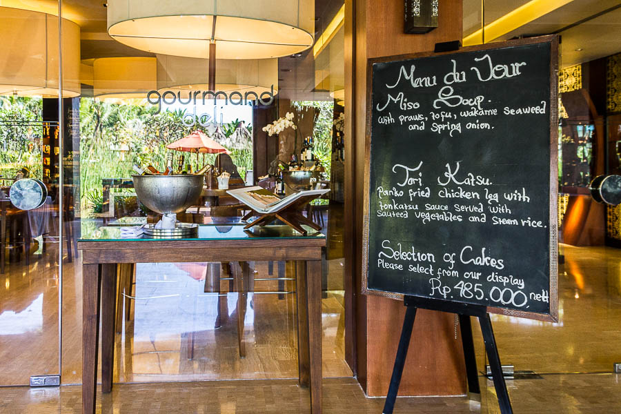 Entrance of Gourmand Deli, St Regis Resort, Nusa Dua, Bali
