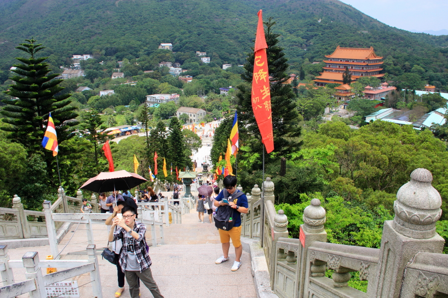 Ngong Ping village, Tian Tian Buddha, the Big Buddha, Hong Kong