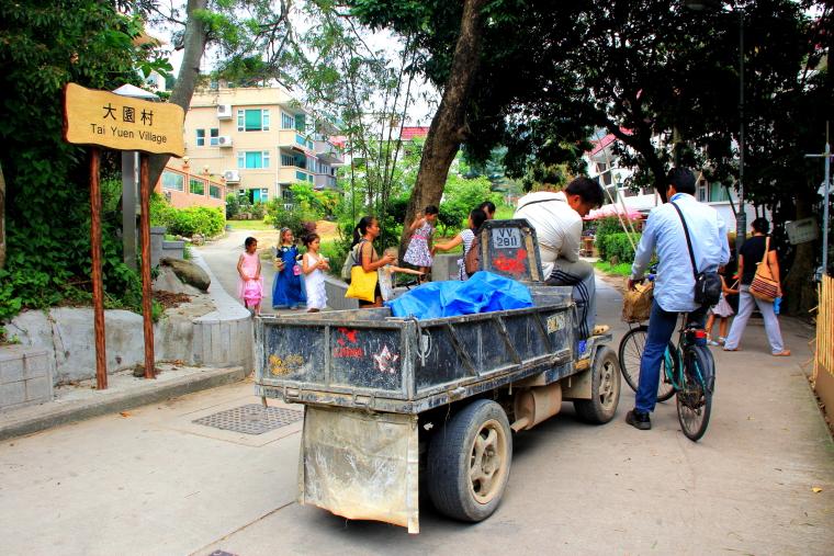 Motorized carts, Lamma island, Hong Kong