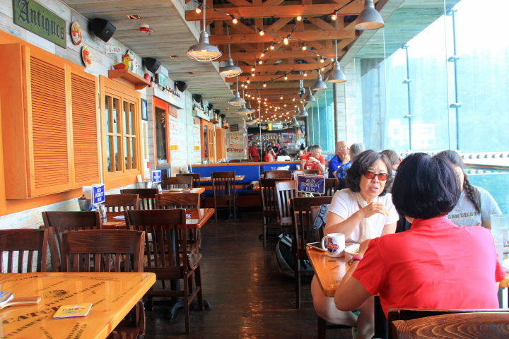 Interior of Bubba Gump at The Peak Tower, Hong Kong