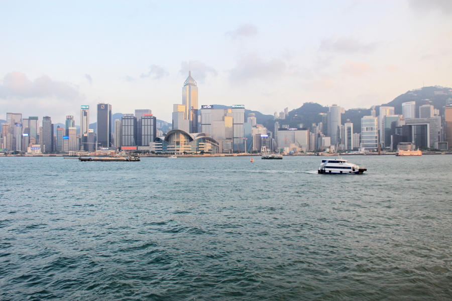 Victoria Harbour building skyline, Hong Kong