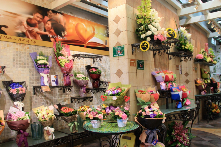 Brighten shop bouquets, Flower Market, Hong Kong