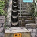 Slope maintenance access at Peak Circle Walk, Hong Kong