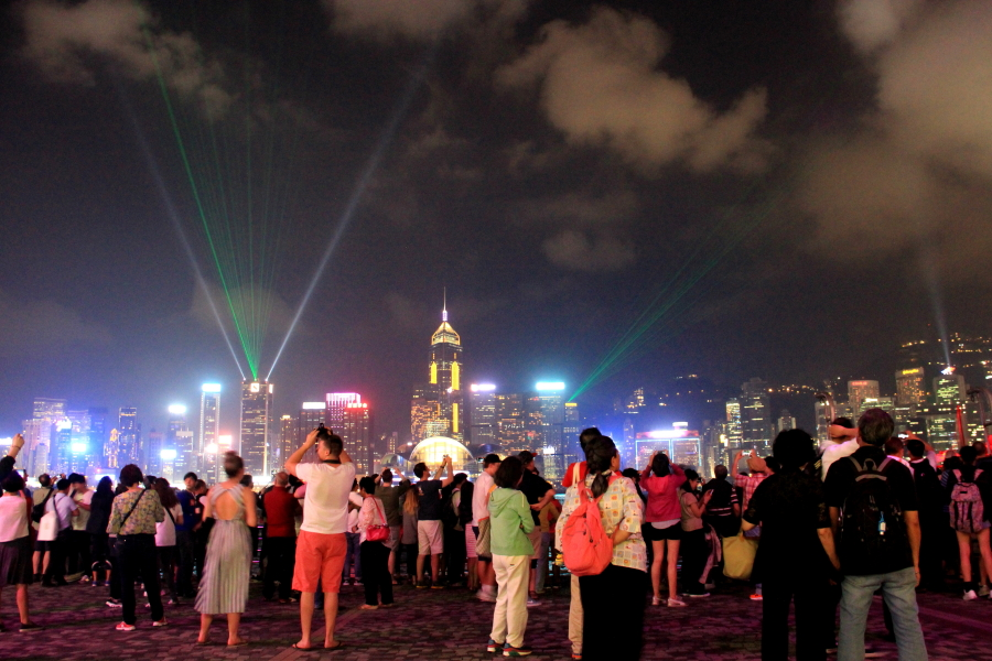 Symphony of Lights, Victoria Harbour, Tsim Sha Tsui, Hong Kong