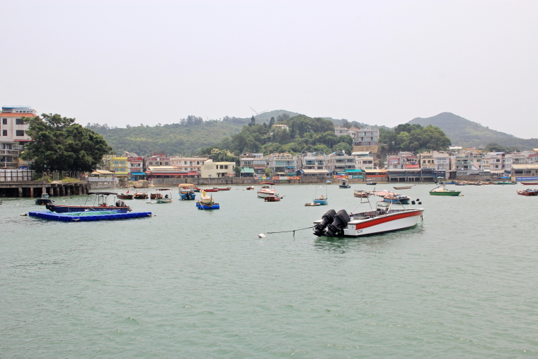 View at jetty of Lamma island, Hong Kong