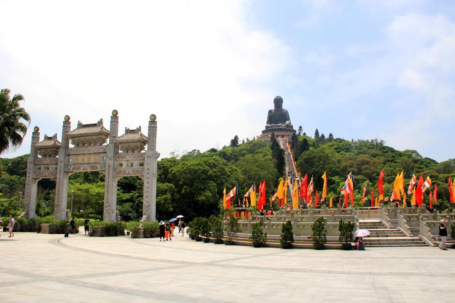 Ngong Ping village, Tian Tian Big Buddha, Hong Kong