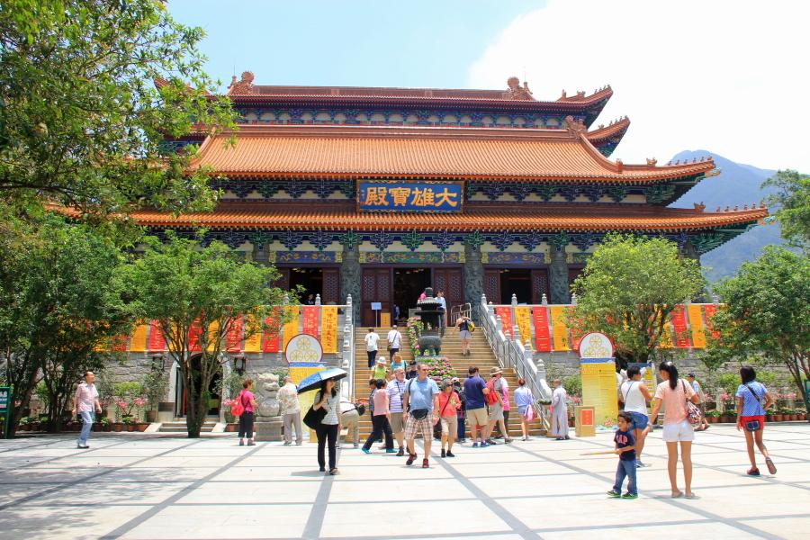 Ngong Ping village, Po Lin Monastery, Hong Kong