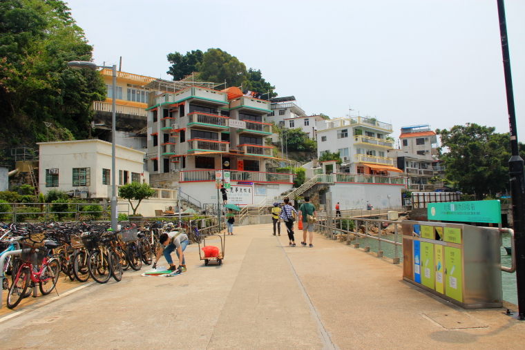 Arriving at Yung Shue Wan, Lamma Island, Hong Kong