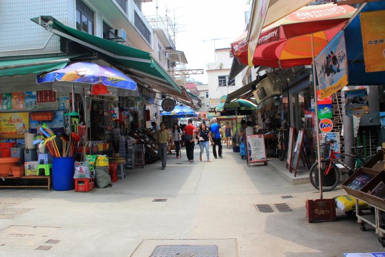 Yung Shue Wan main street, Lamma Island, Hong Kong