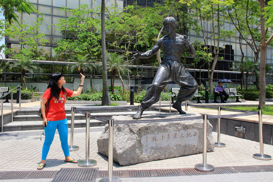 Bruce Lee at Garden of Stars, Victoria Harbour, Tsim Sha Tsui, Hong Kong