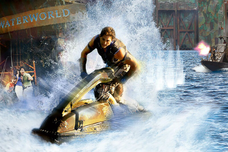 USS show at The Lost World - Waterworld