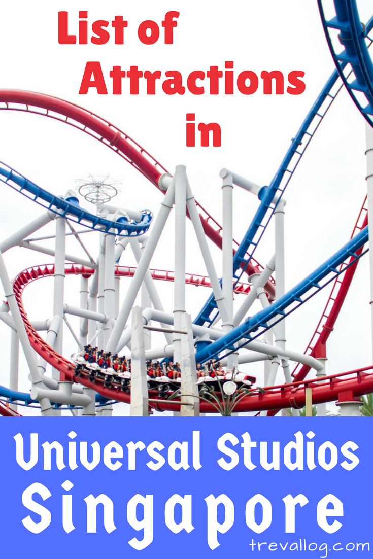 Attractions, rides, shows in Universal Studios Singapore